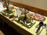 The Grand Salat on the buffet table
